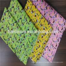 Tissu en flanelle mélangé de coton polyester / tissu de flanelle teint coloré / tissu de flanelle en nylon de 32 * 12 pour tissu