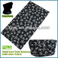 Promotion bedruckte Bandana 100% Polyester Polyester nahtlose Bandana Schal Biker Bandana