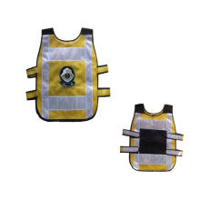high visibility thickened mesh with PVC tape 4cm & 9cm width reflective security vest for children