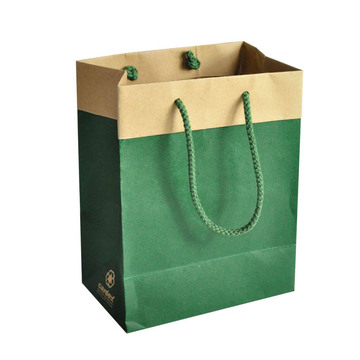 Brown Kraft Paper Bag dengan Cord Paper Twisted