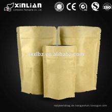 Aluminiumfolie Papiertüte / Aluminiumfolie Tasche mit Reißverschluss