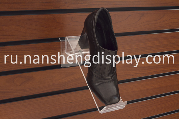acrylic shoe shelves slatwall