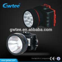 5w haute puissance imperméable à l'eau rechargeable LED Head Lights GT-8654
