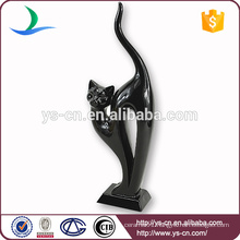 High Quality Wholesale Lovely Black cat Ceramic Home Decor