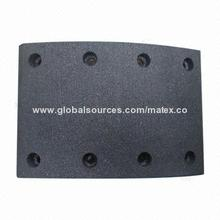 Brake Lining with Non Asbestos, 124x18/12.3x178mm Size