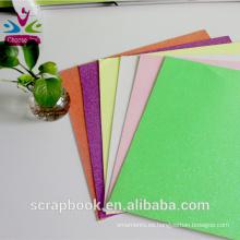 Venta por mayor colorido artesanías brillo papel Cardstock de cardmaking