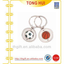 Sports ball keychain metal