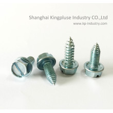 Indented Slotted Hex Washer Head Self-Drilling Screw