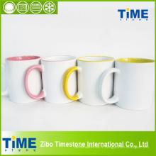 Tasse en céramique de sublimation de couleur intérieure (7102DC)
