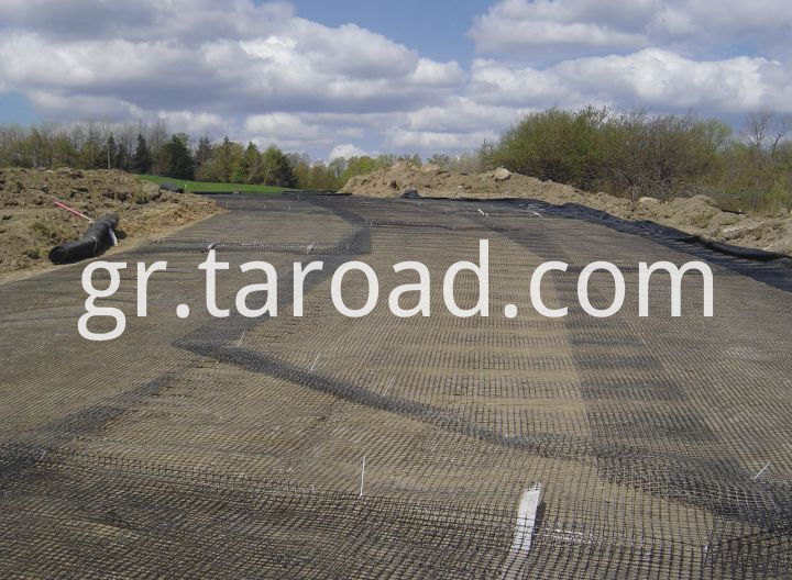 PP Biaxial geogrids installation