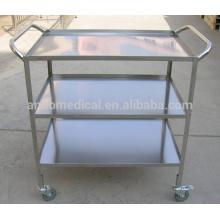 Chariot instrument médical en acier inoxydable