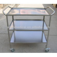 Medical stainless steel instrument trolley