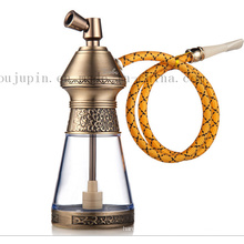 OEM Logo Print Classical Metal Smoking Pipe Shisha Hookah