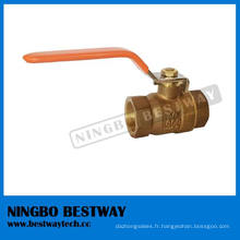 LG2 / B62 / C83600 robinet à tournant sphérique en bronze plein débit (BW-Q01A)
