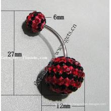 Cuerpo del anillo del vientre cristalizado de Gets.com