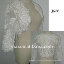 JK56 mujeres Beaded manga larga chaqueta de boda