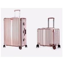 Light travel luggage with lock