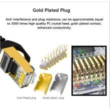 Cable de conexión plano CAT8 de alta velocidad 40G