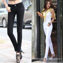 female ankle-length pants hole pencil pants/mujeres pantalones hasta los tobillos vaqueros del agujero