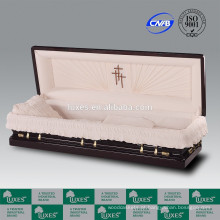 Caixões para sofá cheio de madeira estilo americano de LUXES caixão senador venda