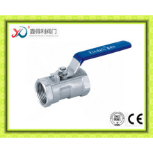DIN 1PC Stainless Steel 1.4408 Ball Valve Pn63 Dn20