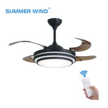 Decorative Modern Fancy AC Retractable Blade Ceiling Fan