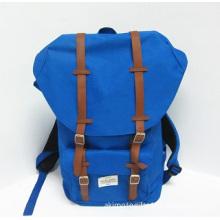Navy blue Backpack PU leather Travel bag Schoolbag Teens prefer products Student bag Portable bag Computer bag Adult backpack Ja