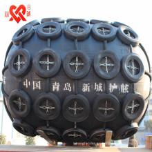 Hecho en China Guardabarros de goma flotante marino neumático, defensa del tipo de Yokohama, guardabarros inflable del barco usado para el barco o el muelle