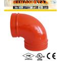 ASTM A536 литья из ковкого чугуна Fire рифленая муфта/фланцевый адаптер/Cap/локоть/фланец/редуктор фитинги