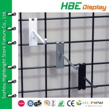 Grid wall mount bracket hooks