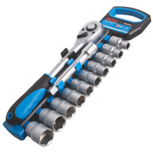 "FIXTEC 12PCS Hand Tools Set Socket Wrench With 1/2"" Ratchet Handle"