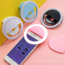 Low MOQ clip light Customized Logo Rechargeable LED Ring Light for Cell Phone