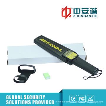 Hochsicherheits-Handheld-Metalldetektor mit Heftklammerüberwachung Empfindlichkeit