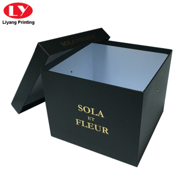 Borong Square Black Flower Box Gift
