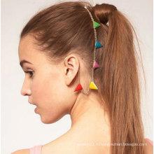 Уникальные подвесные серьги-манжеты из уха с цветной треугольной расческой для женщин EC107