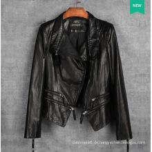 Kurze echte Lederjacke für Frauen