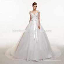 Nueva llegada Sexy A-Line vestido de novia de encaje 2017 Romantic Robe De Mariage Vestido De Noiva Sheer vestidos de novia sin respaldo
