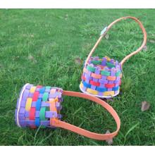 Ева DIY мультфильм Цветочная корзина, подарок сумка ручной работы детей, ребенка образовательной тренинг 3D головоломки игрушки стикер