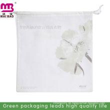 saco de lavanderia de plástico cordão eco amigável