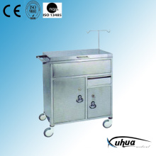 Stainless Steel Hospital Medical Emergency Cart (Q-24)