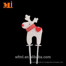 Fabricante direto não-tecido das decorações do bolo do Natal da forma dos cervos do Topper do fabricante para a venda