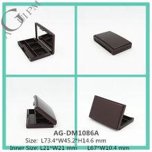 Elegante Kunststoff rechteckige Lidschatten Fall mit Spiegel AG-DM1086A, AGPM Kosmetikverpackungen, benutzerdefinierte Farben/Logo