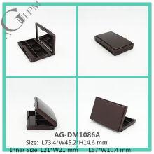 Élégant en plastique rectangulaire ombre à paupières cas avec miroir AG-DM1086A, AGPM empaquetage cosmétique, couleurs/Logo personnalisé