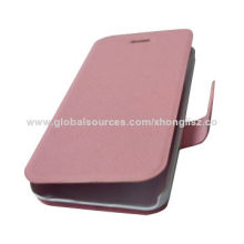 Soft Flip Leather Mobile Phone Cases for iPhone 5/5S with Credit Card Slots and Holder Function