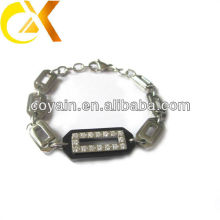 stainless steel bracelet with CZ covered