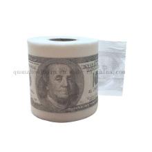 Kundenspezifisches kreatives Werbungs-Dollar-Gewebe-Toiletten-Rollenpapier für Förderung