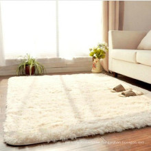 home decor white faux fur silk carpet for the living room