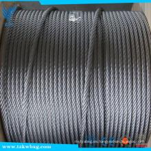 1 * 19 cuerda de alambre 4mm 316 Cuerda de alambre de acero inoxidable