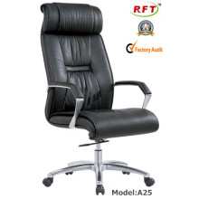 Современный эргономичный офисный кожаный алюминиевый стул для руководителей (A25)
