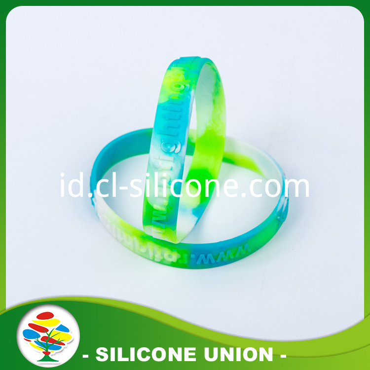 Color Mixing Embossed Silicone Bracelet